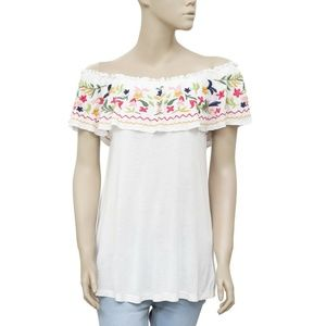 White Chocolate Embroidered Blouse